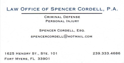 Attorney Spencer Cordell, B.C.S.
