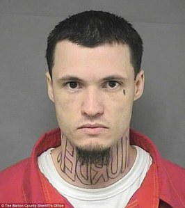 Jeffrey Wade Chapman, neck tattoo neck murder tattoo
