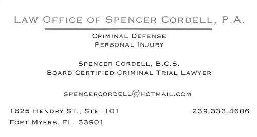 Criminal Law  Attorney Spencer Cordell https://www.facebook.com/crimcourts