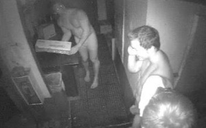 Screen Captures of the Naked Hamburger Thieves
