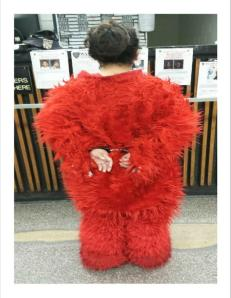 Elmo Arrest: Photo courtesy NYPD @nypdmts