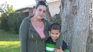 Nicole Gainey and her Son