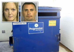 Dumpster Couple, via TBT