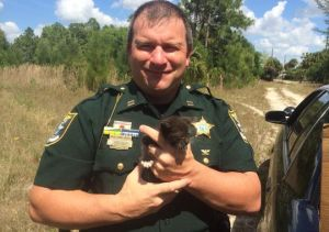 LCSO Captain Keith Day with his Rescued Kitty