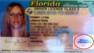 Erroneous DL of Tammy Lemasters