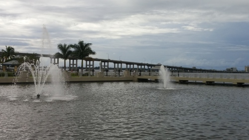 Caloosahatchee Bridge, from the Fort Myers River District, looking North