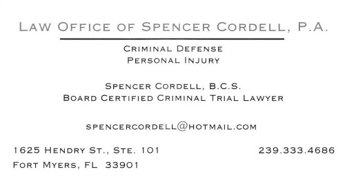 Criminal Law  Attorney Spencer Cordell https://www.facebook.com/crimcourts
